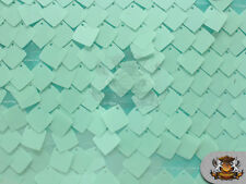 """Sequin Square Dangle Tulle MINT Fabric / 55"""" Wide / Sold by the yard"""