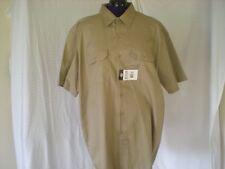 NWT Men's Khaki Short Sleeve Blend Work Shirt 2XL Dickies