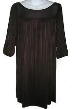 Laundry by Design cocktail dress sz S dark purple pleated swingy NEW $285