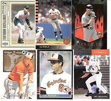 6 Diff. Cal Ripken Jr.  Lot- Baltimore Orioles Great /  Hall of Fame