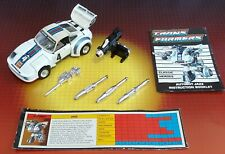 Vintage Hasbro Transformers G1 Autobot Car Jazz Complete w/Insts & Techs