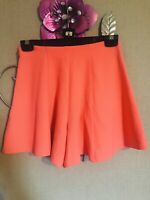 Miss Selfridge Neon Orange Crepe Shorts/Skort Size 6