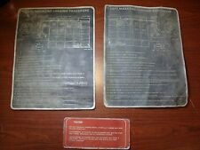Lot of Vintage Various Data Plates