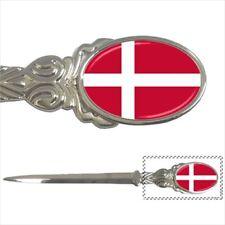 Flag of Denmark Chrome Letter Opener Paper Knife