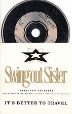SWING OUT SISTER It's Better To Travel Sampler 1987 UK 4-track promo only CD