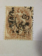 FRANCE 1900-24, timbre 110, type BLANC, oblitéré, VF used, cancelled STAMP