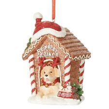 """Raz DOG HOUSE Christmas Ornament 4"""" all decked out Raz 3907041"""