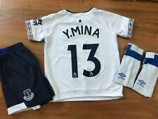 Boys UMBRO EVERTON FC AWAY KIT Shirt (age6-7) *No.13 Y.MINA*