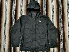 The North Face Hyvent Jacket Black hooded Girls XL Rain Coat outdoors Hiking EUC