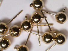 VTG 50 GOLD TONE METAL EARRING POSTS WITH LOOP FOR DANGLE #111218r