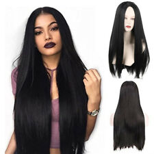 Black Womens 70cm Long Wavy Curly Hair Synthetic Cosplay Full Wig Wigs Party
