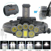 120000LM 8x T6 LED Rechargeable Headlamp Headlight 18650 Head Torch Light Lamp E