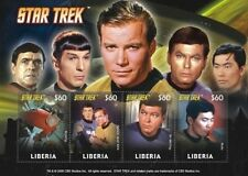 Liberia - Star Trek - Collectible Postage Stamps, Sheet of 4 - 2009 MNH