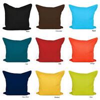 "Plain Dyed Cushion Cover Duck Quality 100% Cotton Sizes: 16""x16"" 18""x18"" 20""x20"""