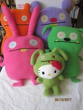 "UGLYDOLL ~Lot of 5 Plush 16""Trunko Wage, Hot Foot  (2013)Sun-Min Kim Hello Kitty"