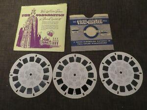 Vintage Viewmaster Reels Queen Elizabeth Coronation 3 Reels