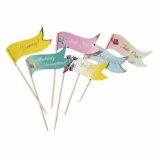 Truly Scrumptious Canape Cake Flag Picks
