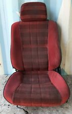 84 85 Toyota Celica Red Driver Left Front Bucket Seat W Sliding Rail Tracks Nice