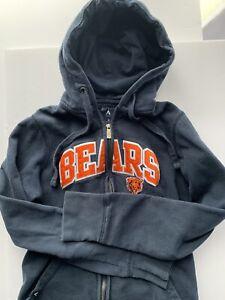 Chicago Bears Antigua Womens Size M Full Zip Hoodie