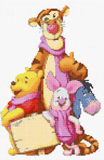 "Tigger,Pooh,Piglet & Eeyore Counted Cross Stitch Kit 7"" x 11"" Disney"