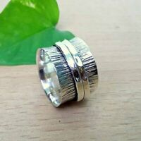 AAA Lovely Spinning ring,Hammered ring,Silver ring, Meditation ring spin band S3