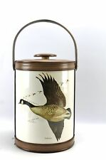Vintage Georges Briard Canada Goose Waterfowl Handled Ice Bucket