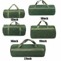 Portable Hand Tool Bag Waterproof Canvas Storage Bag with Handle Toolkit Tote