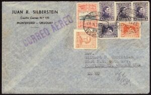 URUGUAY 1947 AirMail COVER to USA @D8220