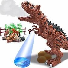 Dinosaur Toy Electronic Ceratosaurus Toys Battery Operated with Water Brown