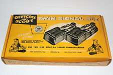 "early 1960's ""Official Boy Scout"" Twin Signal Set (telegraph key morse code)&box"