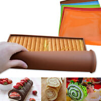 Non-stick Silicone Oven Mat Safety Baking Trays Cake Swiss DIY Roll Pad Too TDC