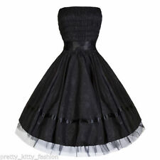 Calf Length Satin 50's, Rockabilly Floral Dresses for Women