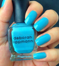 NEW! Deborah Lippmann ON THE BEACH Polish Lacquer full size riviera blue