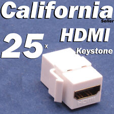 25 HDMI Keystone Coupler Adapter insert Jack Wall Plate Female Female Connector
