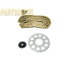 Gold O-Ring Chain Sprocket Kit Honda VT600 Shadow VLX 600 Deluxe 600 1993-2007