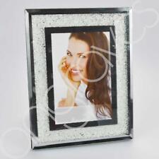 Diamond Crush Photo Frame 5 x 7 Inch Silver Photoframe Picture Glitter Sparkle