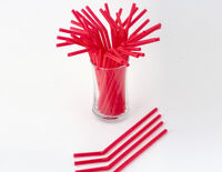 100 Red Bendi straws - Bendi Straw - Soda Straw - Free Post - 21 Cm Long