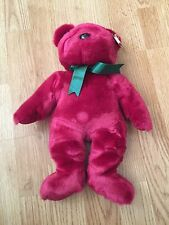 Ty Beanie Buddy Teddy 1998 Tags Retired Cranberry