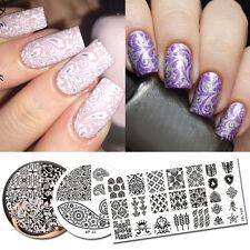 3Pcs Nail Art Stamping Plates Paisley  Nail Image Printing Template Born Pretty