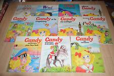 lot 8 livres CANDY + 3 autres série des éditions Rouge et Or / années 1970