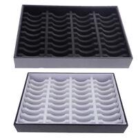40 Slots Insert Bangle Bracelet Display Tray Jewelry PVC Cardboard 35x24x5cm