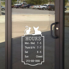 14h X 8w Custom Business Hours Sign For Grooming Salon Vinyl Sticker Decal