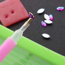 3pcs / set lápiz Coger Granos Cristal pluma Selector uñas placa manicura