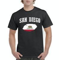 San Diego California Men Shirts T-Shirt Tee