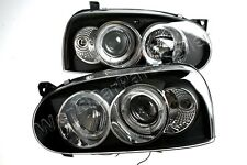 Headlight Front Lamps Black LEFT+RIGHT Fits VW Golf Mk3 1992-1997