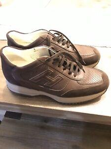 Hogan Brown Athletic Shoes for Men for
