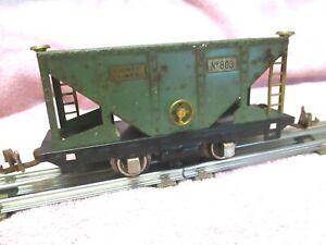", '' LIONEL LINES "" OPERATING COAL HOPPER , 1927- 28 # 803 PRESSED STEEL& BRASS"