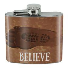 Bigfoot Sasquatch Believe Foot Print Stainless Steel 5oz Hip Drink Kidney Flask