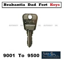 BRABANTIA DAD FORT KEYS CUT TO CODE ( 9000 - SERIES ) EUROLOCK - MAIL BOX KEYS
