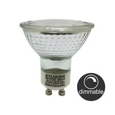 15 X Sylvania 240v Gu10 50w Halogen Downlight Globes / Bulbs Warm White Dimmable